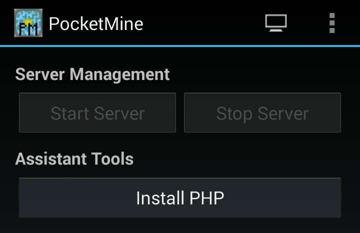 Installige PocketMine Androidile