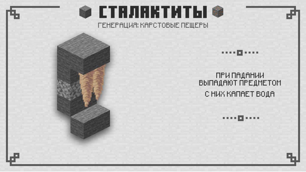 Сталактиты в Майнкрафт 1.16.210