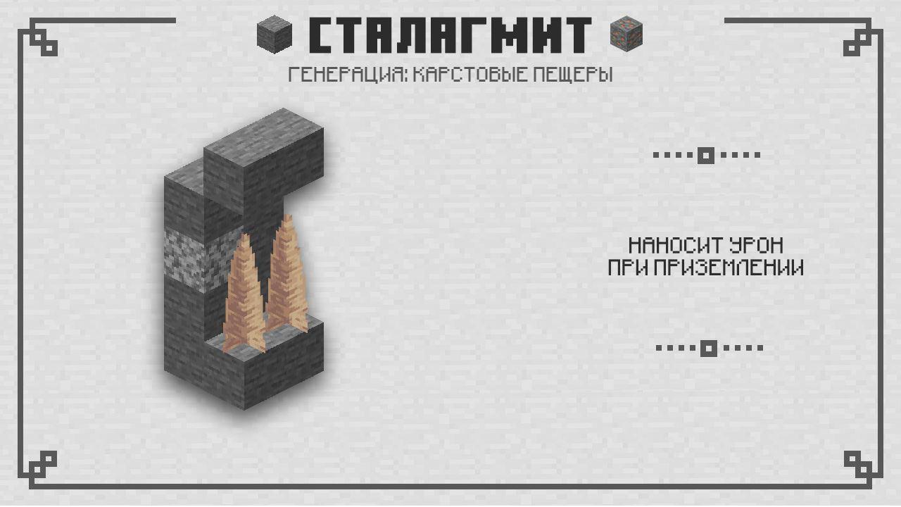 Сталагмиты в Майнкрафт 1.16.210