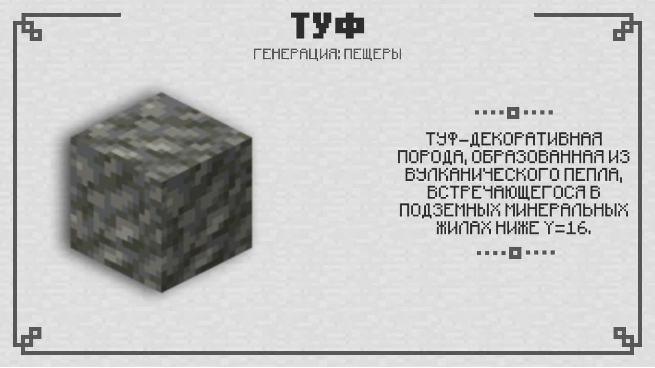 Туф в Майнкрафт 1.17.2